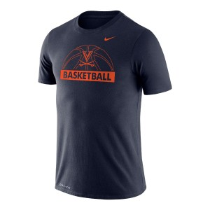 UVA V-Sabre Dri-FIT Performance Legend Navy Long Sleeve T-shirt