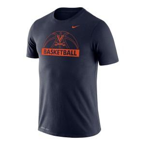 UVA V-Sabre Dri-FIT Performance Legend Navy Long Sleeve T-shirt