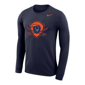 UVA Shield Dri-FIT Performance Legend Navy Long Sleeve T-shirt