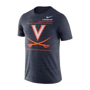 University of Virginia 2021 Nike Shortsleeve Sideline Tee - Navy