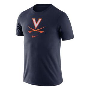 University of Virginia 2021 Nike Essential Logo Tee - Navy
