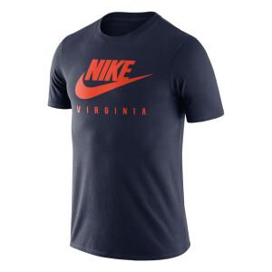 University of Virginia 2021 Nike Swoosh Navy Tee