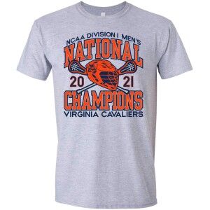UVA 2021 Men's Lacrosse National Champ Gray Tee