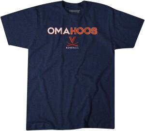2021 College World Series OMAHOOS Navy tee