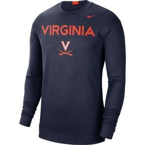 UVA Men's Dri-FIT Spotlight Navy Long Sleeve T-shirt