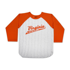 UVA Youth Baseball Striped 3/4 Sleeve Tee