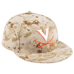 New Era UVA Baseball On-Field Digital Camo Replica 5950 Fitted Hat