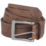 UVA Continuous Embossed Leather Brown Belt