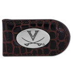 UVA Brown Croco Leather Money Clip