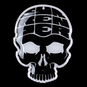 Surrender All Skull Enamel Button