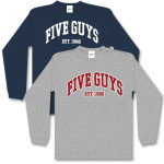Five Guys Collegiate Long sleeved T-Shirt