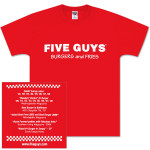 Five Guys Logo T-Shirt