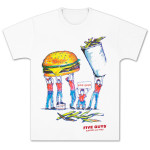 Five Guys Limited Edition 2014 Fan Design T-Shirt