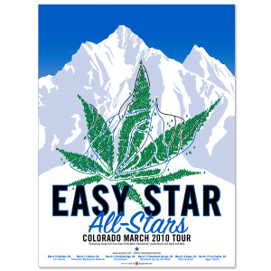 Easy Star All-Stars Colorado 2010 Tour Poster