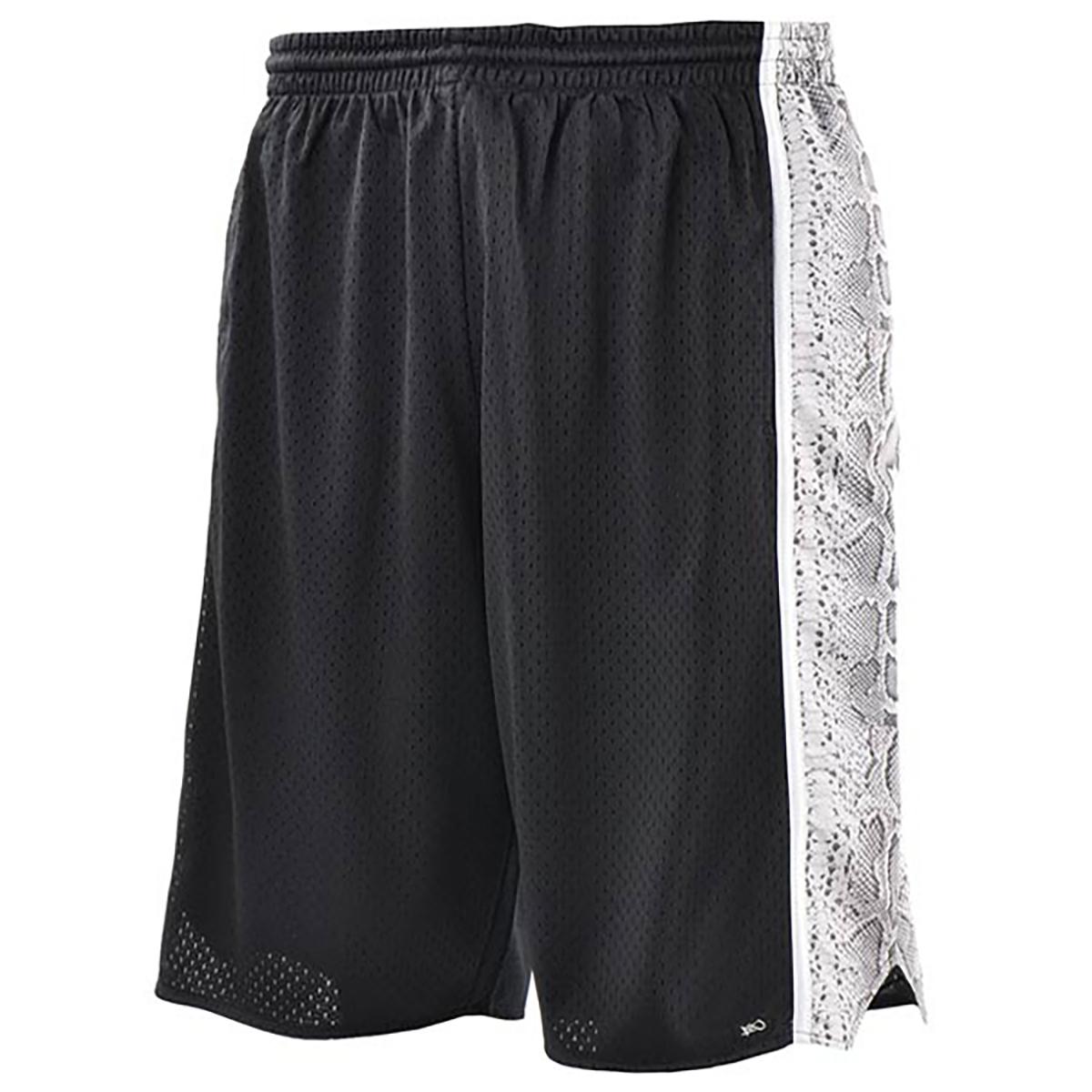 snakeskin panel shorts