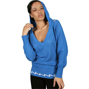 shorty v-neck mesh hoody