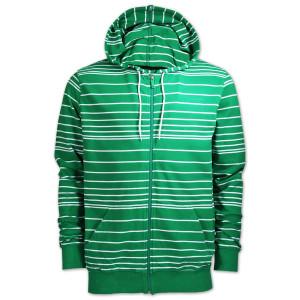 line zipper hoody