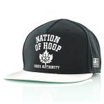 noh leaf snapback cap