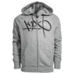 stitch tag zipper hoody