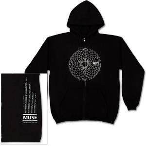 Muse Hex Hole Dateback Black Zip Hoodie