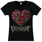 Bullet For My Valentine Flower Heart Girlie T-Shirt