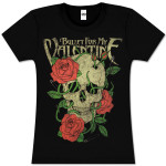 Bullet For My Valentine Rose Roots Girlie T-Shirt