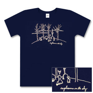 Explosions In The Sky Women's Navy Graveyard T-Shirt