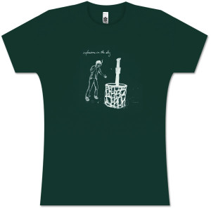 Explosions In The Sky Women's Forest Green Wishing Well T-Shirt