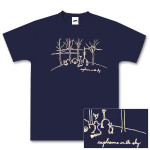 Explosions In The Sky Navy Graveyard T-Shirt