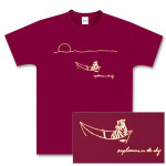 Maroon Tiger in Boat T-Shirt