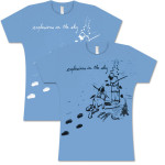 Explosions In The Sky Women's Baby Blue Eskimo T-Shirt