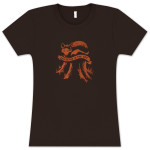 Explosions In The Sky Women's Brown Fox T-Shirt
