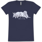 Explosions In The Sky Dogs Ladies T-Shirt