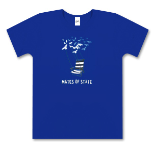 Ladies Royal Blue Deck Chair T-Shirt