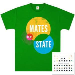 Mates of State Mountaintops CD & T-Shirt Bundle