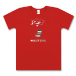 Ladies Red Deck Chair T-Shirt