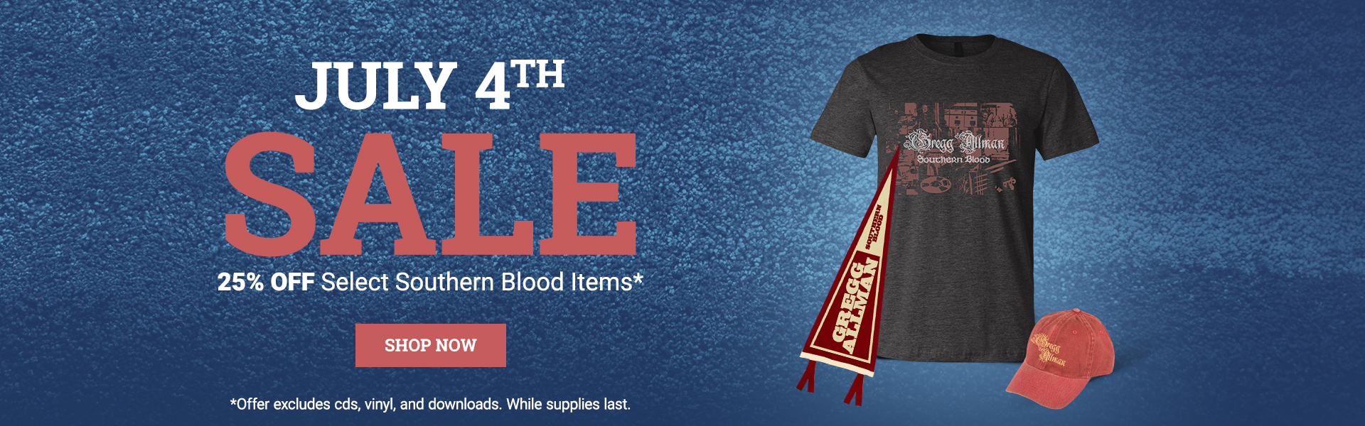 25% Off Select Southern Blood Items