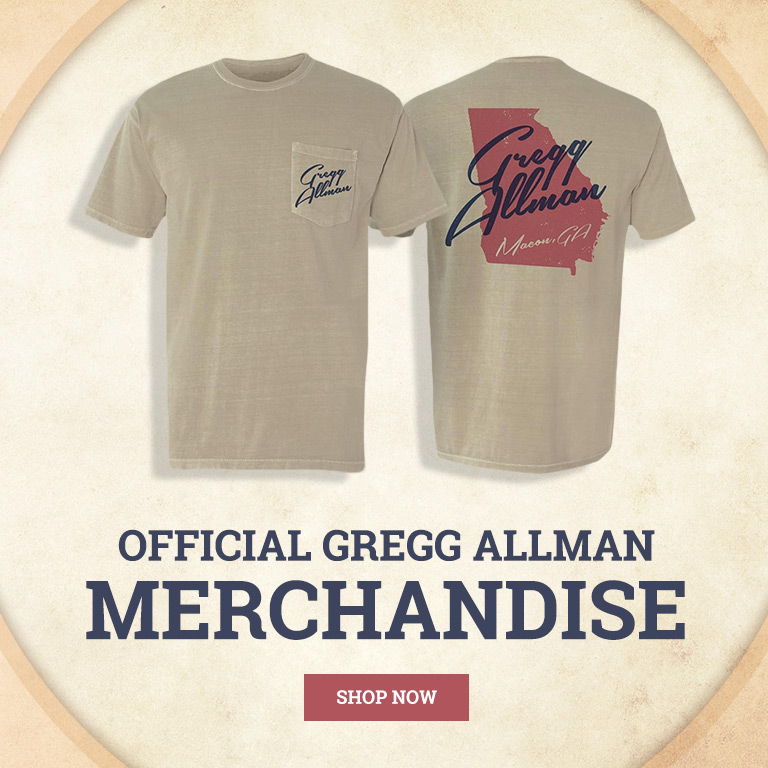 New Official Gregg Allman Merchandise