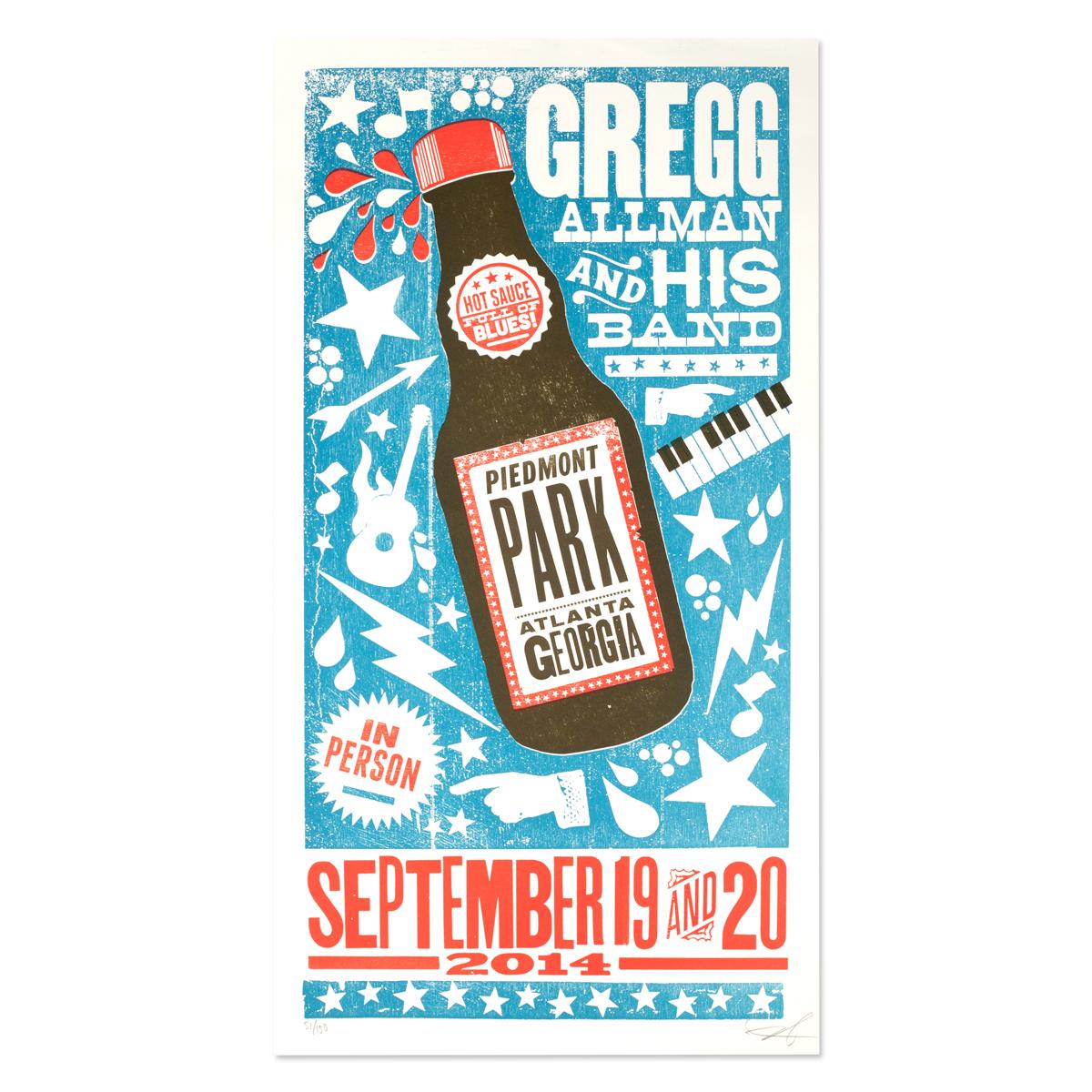 Gregg Allman Atlanta Event Poster