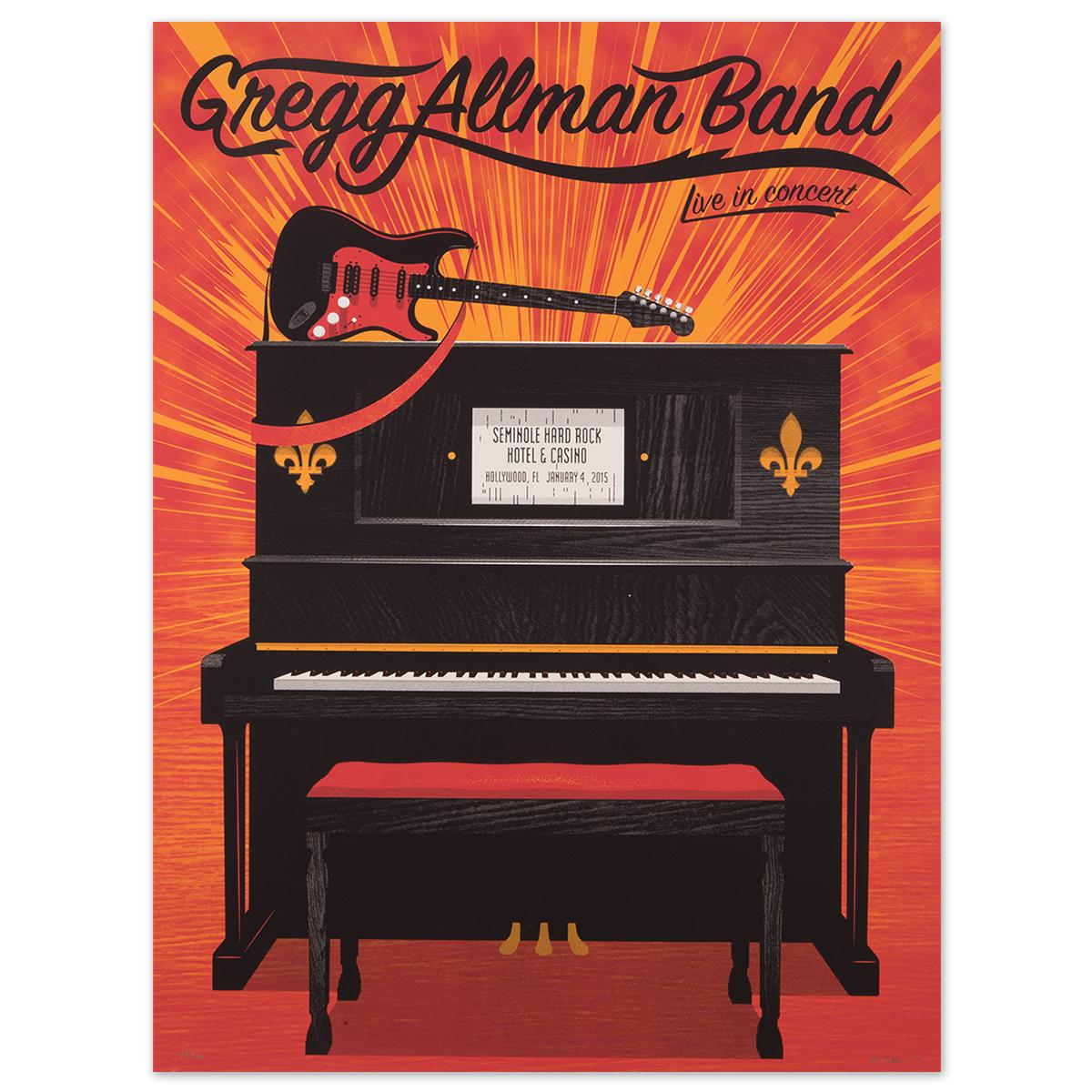 Gregg Allman Hollywood Event Poster