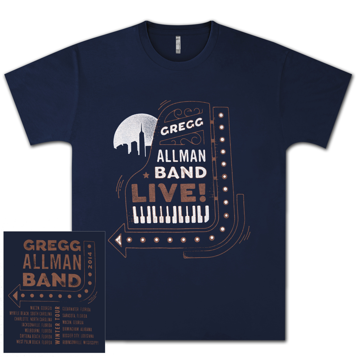 Gregg Allman 2014 Winter Tour T-Shirt