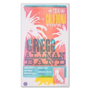 Gregg Allman 2014 California Tour Poster - Limited Edition