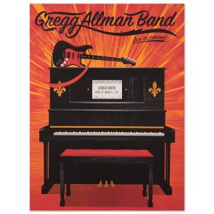 Gregg Allman Athens Event Poster
