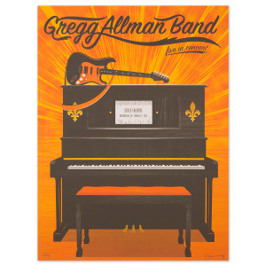 Gregg Allman Kalamazoo Event Poster