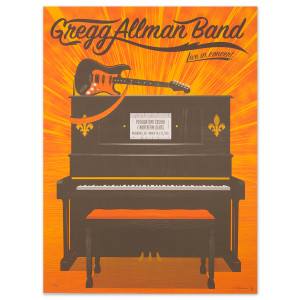 Gregg Allman Milwaukee Event Poster