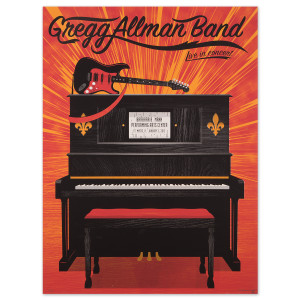 Gregg Allman Ft. Myers Event Poster