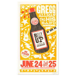 Gregg Allman and His Band Limited Edition Belly Up June 24th and 25th Poster