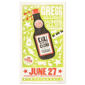 Gregg Allman and His Band Limited Edition Eagle Mountain Casino June 27th Poster