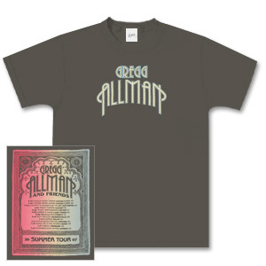 Gregg Allman and Friends Summer Tour Dates 2007 Shirt