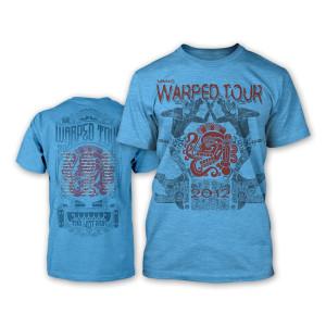 Warped Tour 2012 Women's Ritual T-Shirt - Blue